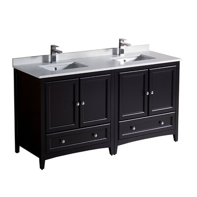 Oxford 60 Double Bathroom Vanity Set Base Finish: Espresso