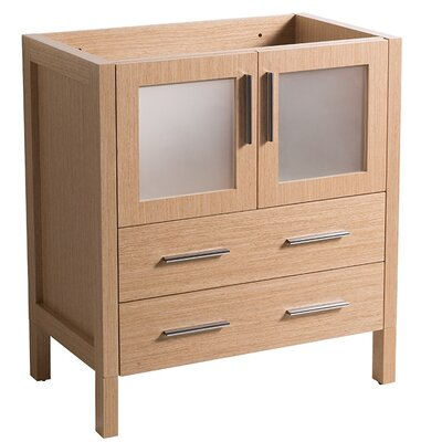 Torino 30 Single Bathroom Vanity Base Base Finish: Light Oak