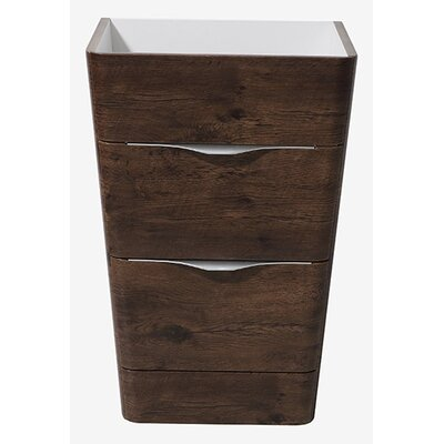 Milano 26 Single Bathroom Vanity Base Base Finish: Rosewood
