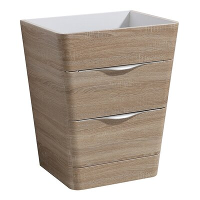 Milano 26 Single Bathroom Vanity Base Base Finish: White Oak