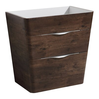 Milano 32 Single Bathroom Vanity Base Base Finish: Rosewood