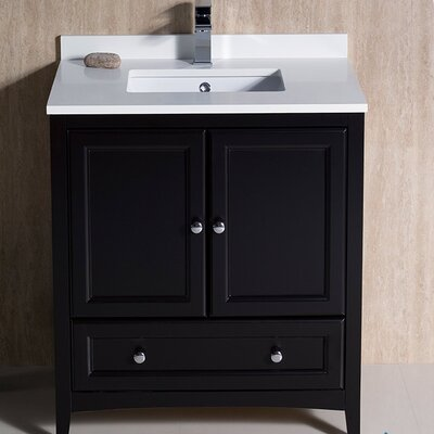Oxford 30 Single Bathroom Vanity Set Base Finish: Espresso