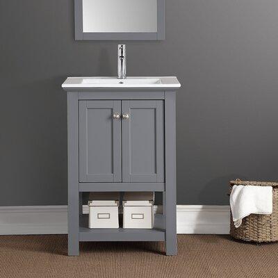 Manchester 24 Single Bathroom Vanity Base Finish: Gray
