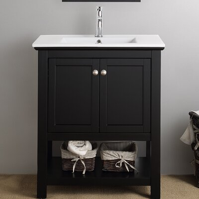 Cambria Manchester 30 Single Bathroom Vanity Set Base Finish: Black