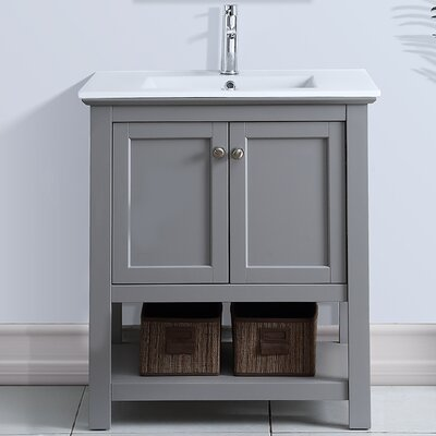 Cambria Manchester 30 Single Bathroom Vanity Set Base Finish: Gray