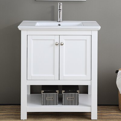 Cambria Manchester 30 Single Bathroom Vanity Set Base Finish: White