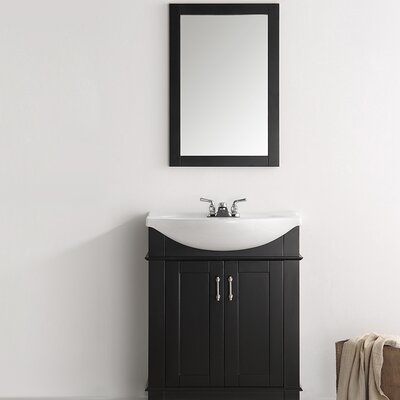 Hartford 30 Single Bathroom Vanity Base Finish: Black