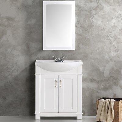 Hartford 30 Single Bathroom Vanity Base Finish: White