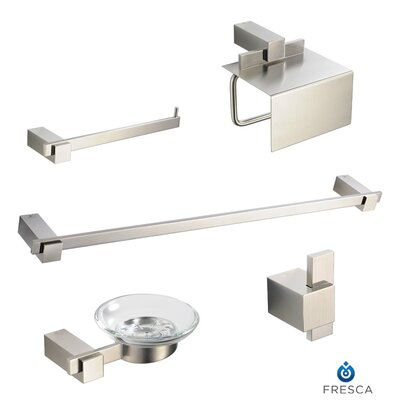 Ellite 5 Piece Bathroom Accessory Set