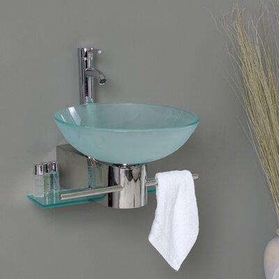 Vetro 18 Single Cristallino Modern Bathroom Vanity Set