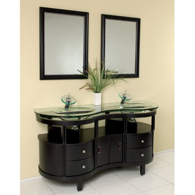 Classico 63 Double Unico Modern Bathroom Vanity Set with Mirror