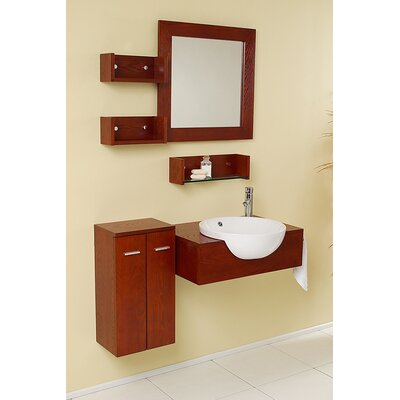 Nero 26 Single �StileModern Bathroom Vanity Set with Mirror