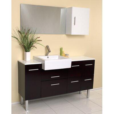 Stella 55 Single Serio Modern Bathroom Vanity Set with Mirror
