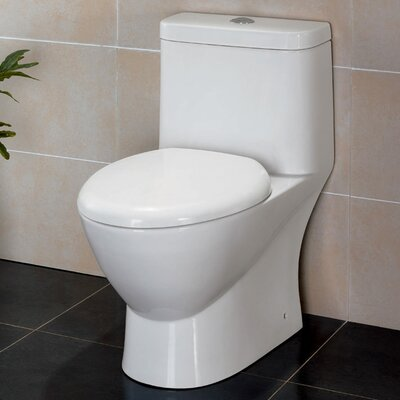 Serena Dual Flush Elongated One-Piece Toilet