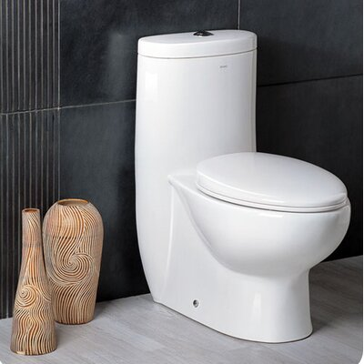 Delphinus Dual Flush Elongated One-Piece Toilet