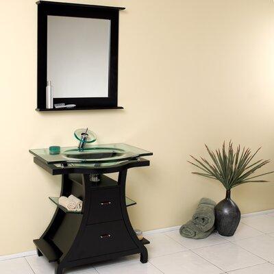 Classico 32 Single Cortese Modern Bathroom Vanity Set with Mirror