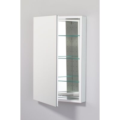PL Series 19.25 x 30 Recessed or Surface Mount Medicine Cabinet Finish: White, Orientation: Left