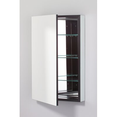 PL Series 19.25 x 30 Recessed or Surface Mount Medicine Cabinet Finish: Black, Orientation: Left