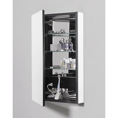 PL Series 15.25 x 30 Recessed or Surface Mount Medicine Cabinet Finish: Black, Orientation: Left