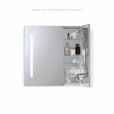 AiO 23.25 x 30 Recessed Medicine Cabinet with Lighting Orientation: Left Hand