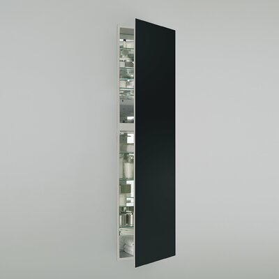 M Series 19.25 x 70 Recessed Medicine Cabinet Finish: Black, Orientation: Left Hand