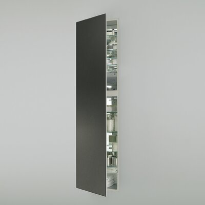 M Series 19.25 x 70 Recessed Medicine Cabinet Finish: Tinted Gray, Orientation: Right Hand