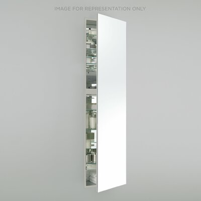 M Series 19.25 x 70 Recessed Medicine Cabinet Finish: White, Orientation: Left Hand