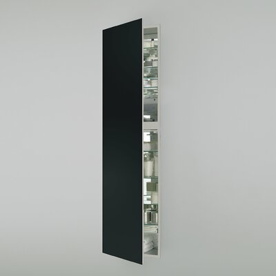 M Series 19.25 x 70 Recessed Medicine Cabinet Finish: Black, Orientation: Right Hand