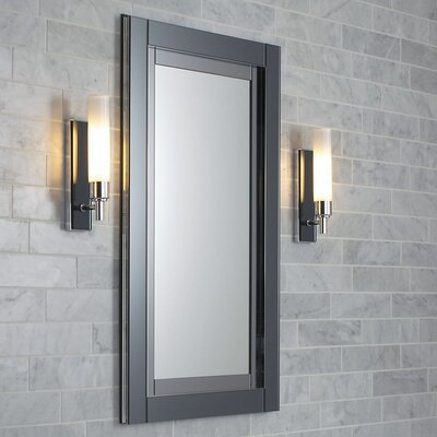 Candre 19.25 x 39.38 Recessed or Surface Mount Medicine Cabinet Finish: Tinted Gray Mirror, Orientation: Left Hand