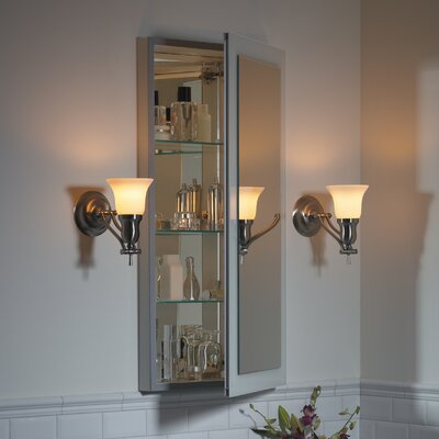 Main Line 15.25 x 39.38 Recessed Medicine Cabinet Orientation: Right Hand, Finish: Satin Nickel