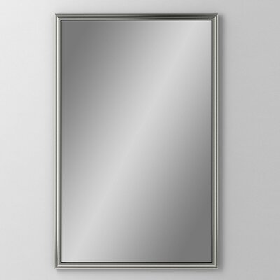 Main Line 19.25 x 30 Recessed Medicine Cabinet Finish: Brushed Black