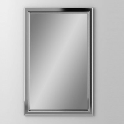 Main Line 19.25 x 39.38 Recessed Medicine Cabinet Finish: Brushed Black, Orientation: Left Hand