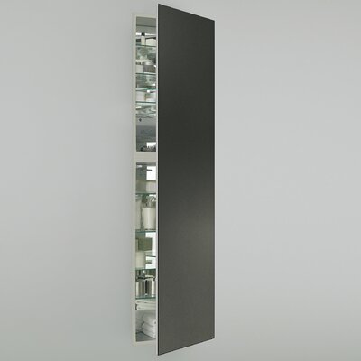 M Series 19.25 x 70 Recessed Medicine Cabinet Finish: Satin Bronze, Orientation: Right Hand