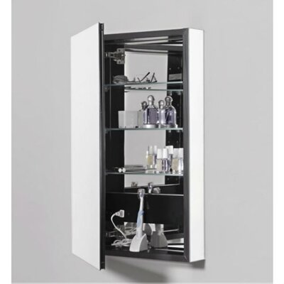 PL Series 15.25 x 39.38 Recessed or Surface Mount Medicine Cabinet Finish: Black