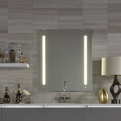 "AiO Lighted Bathroom/Vanity Mirror Audio: None, Size: 29.87"" x 35.12"" x 1.5"""