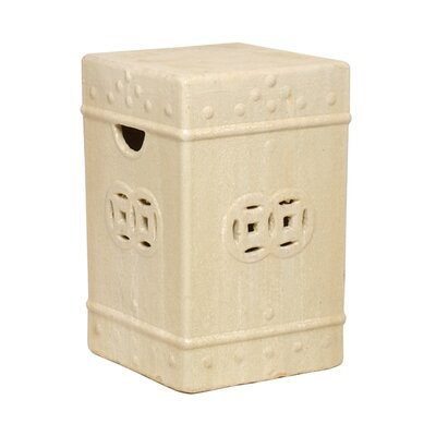 Square Ceramic Fortune Garden Stool