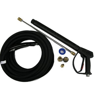 "MTM Hydro Vented 4000 PSI Pressure Washing Gun Kit with 50-Foot (3/8"") Wrapped Rubber Hose at Sears.com"