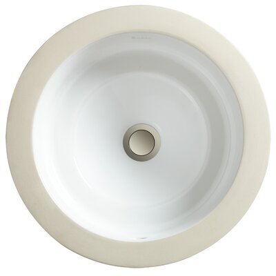 PORCHER Marquee Round Medium Undermount Bathroom Sink - Finish: White at Sears.com