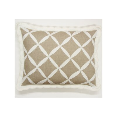 Symmetry Linen Lumbar Pillow Color: White