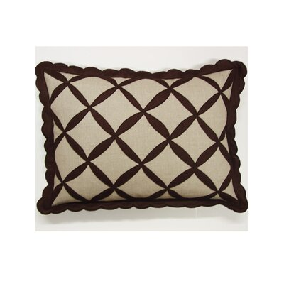 Symmetry Linen Lumbar Pillow Color: Brown