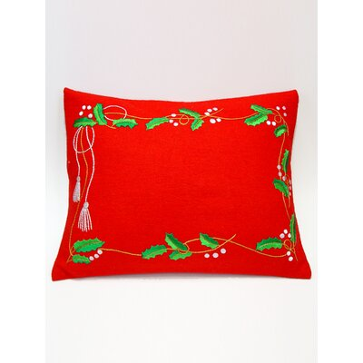 Holly Garland Pillow