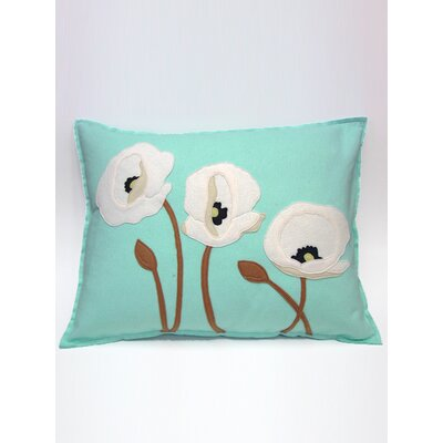 Linmore Poppy Trio Lumbar Pillow Color: White/Glacier