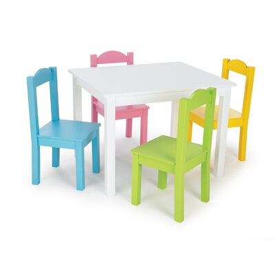 Tot Tutors Kids 5 Piece Wood Table and Chair Set - Color: Pastel at Sears.com