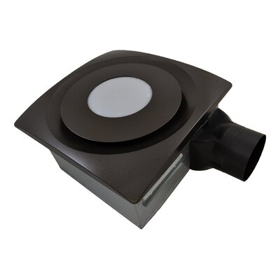 SlimFit 90 CFM Bathroom Fan with Light Finish: Oil Rubbed Bronze