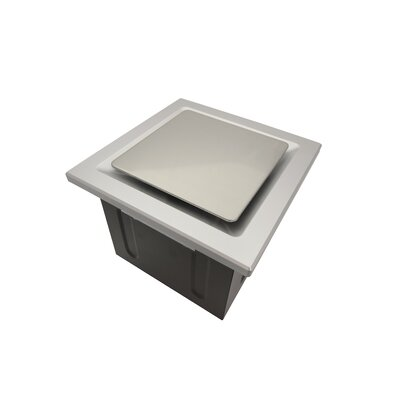 Super Quiet 80 CFM Bathroom Ventilation Fan Finish: Silver
