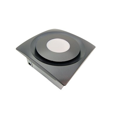 SlimFit 120 CFM Bathroom Fan with Light Finish: Oil Rubbed Bronze