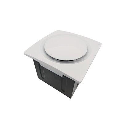 Super Quiet 80 CFM Bathroom Ventilation Fan Finish: White