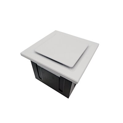 Super Quiet 80 CFM Bathroom Ventilation Fan Finish: White