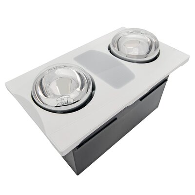 80 CFM Bathroom Fan with Heater and Light Finish: White