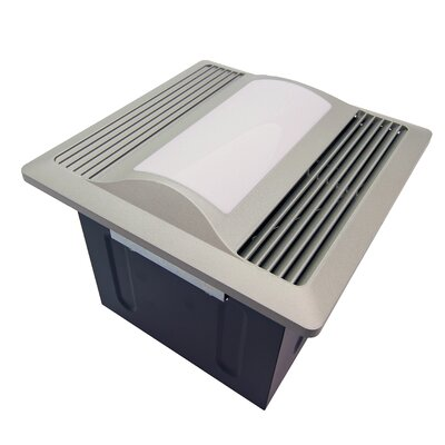 110 CFM Energy Star Bathroom Fan with Light / Nightlight Finish: Satin Nickel
